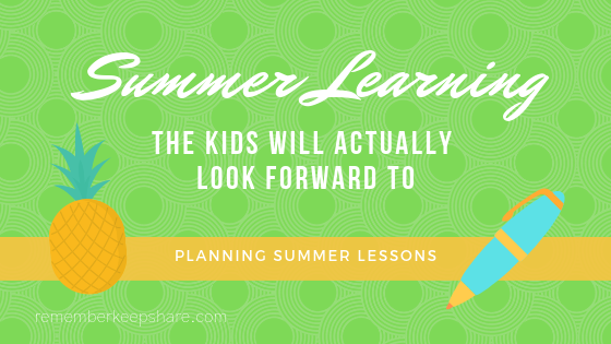 Summer Learning Planning
