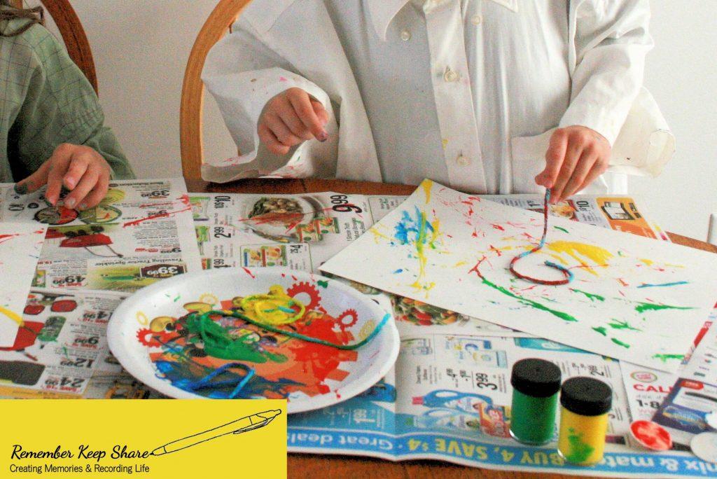 child painting