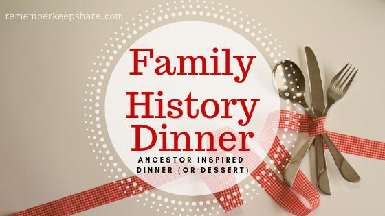 Ancestor Inspired Dinner