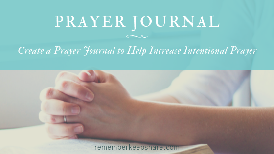 Intentional Prayer Journal